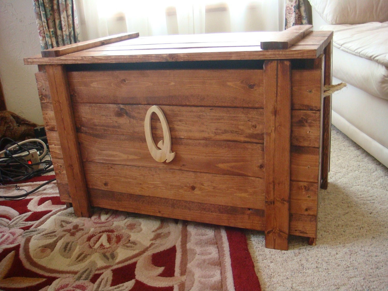 handmade wooden toy chest