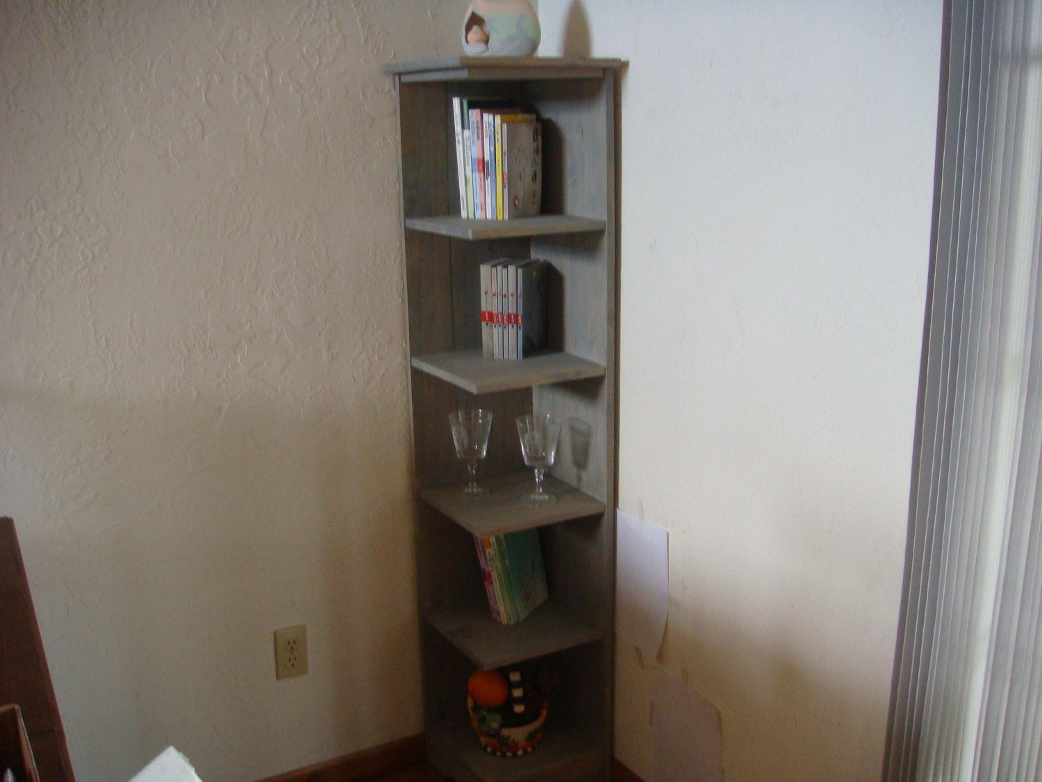 #604938 60 In Tall Corner Shelf Bookcase Display Grey Transparent with 1500x1125 px of Most Effective Tall Corner Bookcase 11251500 wallpaper @ avoidforclosure.info