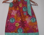 Pillowcase dress - Hippy Peace flowers - sizes 12 Months to 10 Years