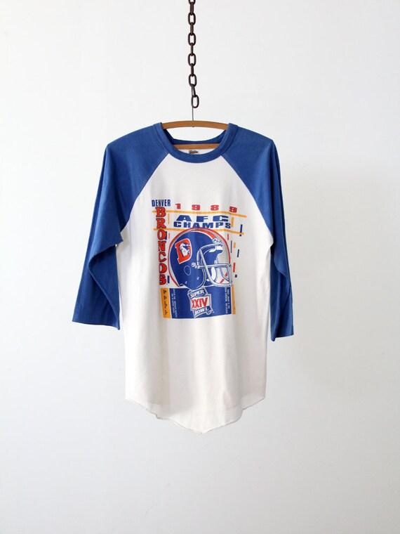 1980s Football Tee / Denver Broncos / 1989 AFC Champs
