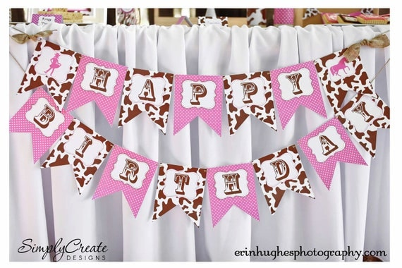 Cowgirl BANNER DIGITAL File 8.5  x 11 Jpeg Files Personalized DIY