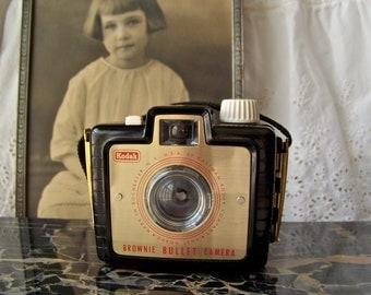 Vintage Kodak Brownie Bullet Camera Bakelite Case Brownie Camera Kodak Camera 1950s Promotional Camera