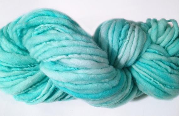 Watercolors Handspun Wool Yarn in Elysium
