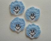 THING 1 And 2 - Machine Embroidered Felt / Applique ~ Ready To Ship ~ Available Cut Or Uncut
