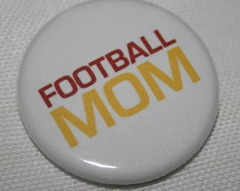 Football Mom 1.25 inch Pinback Button