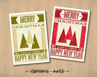 PRINTABLE Christmas Gift Tags - H007 Christmas Trees