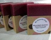 Moonlight Jasmine Natural Vegan Olive Oil Soap  - organic ingredients