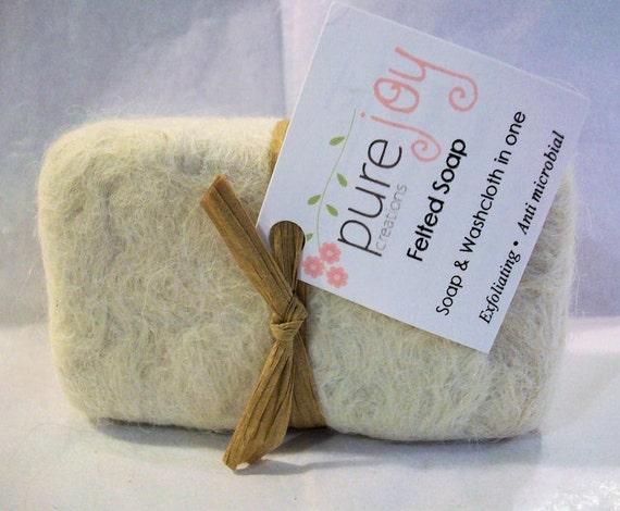 Alpaca Felted Dr. Bronner's Lemon Citrus Castile Soap(5 oz. bar)