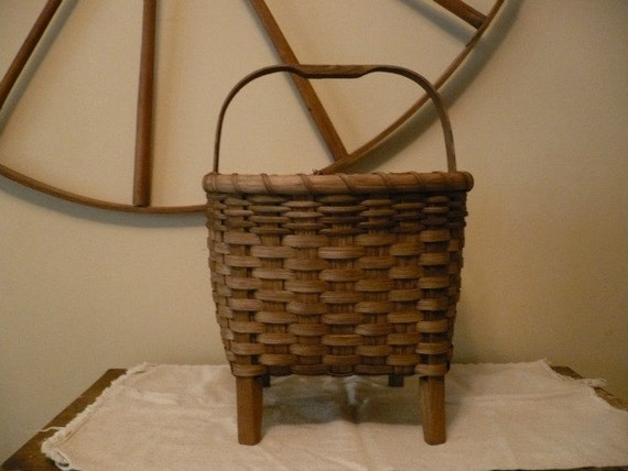 Primitive Storage Basket Handwoven