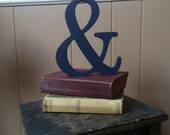 "6"" AMPERSAND Wood Sign-Hand-cut and Hand-painted Chic Decor"