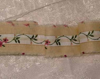 Yummy Ribbon Candy Shabby Chic Country Rose French Market Inspired Hand Distressed Ribbon RC006