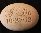 Engraved Oathing Wedding Stone, Personalized front and back