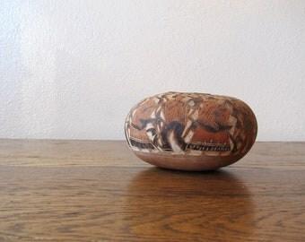 Vintage Carved Gourd