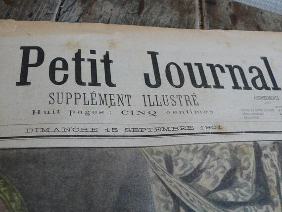 Vintage newspaper,  French, 1901, antique, advertisements, paper ephemera, mixed media art, 1958,  fashion, knitting, sewing, French vintage
