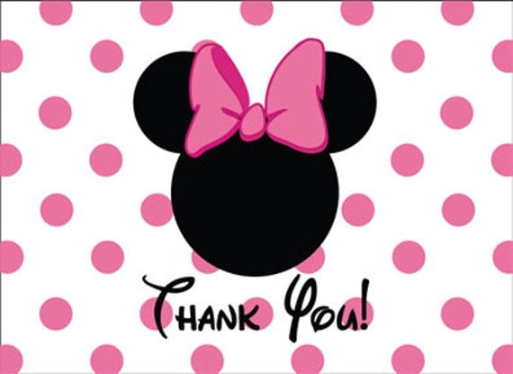 Minnie Mouse Head Invitation Template for beautiful invitations layout