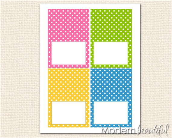 editable easter food labels bright colors polka dot pink. Black Bedroom Furniture Sets. Home Design Ideas