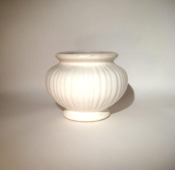 Vintage white Ceramic Planter