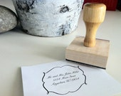 """2"""" x 2"""" Custom Rubber Stamp with Wooden Handle with ink pad"""