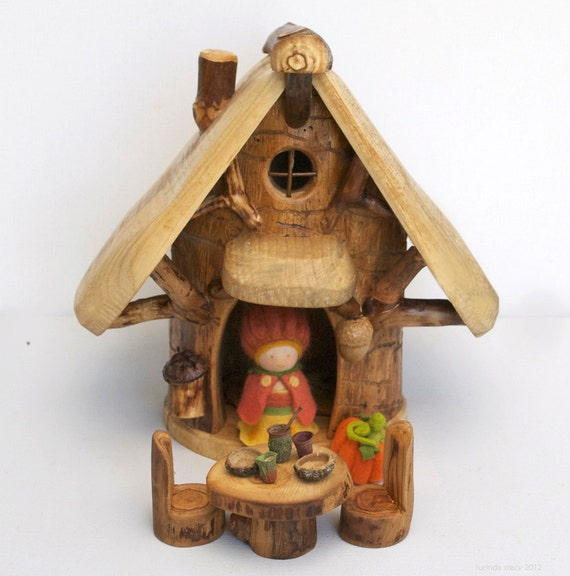 PERSONALIZED LISTING for TRACEY W.  Gnome Home with Pumpkin Gnome