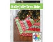 Holly Jolly Christmas Tree Skirt Pattern (pdf)