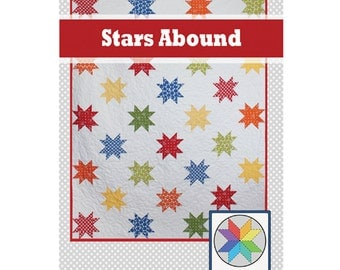 Stars Abound - a PDF Quilt Pattern - Throw Size
