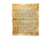 Amazing Grace Hymn Art DIGITAL, PDF or PNG