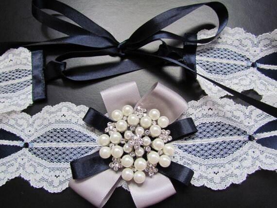 Winter Wedding Lace Sash Belt