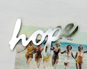 Mirror Fridge Magnet Word Hope - words, typography