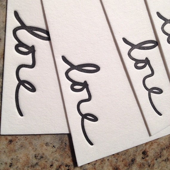 Personalized handwriting signature letterpress notecards set of 25 cards