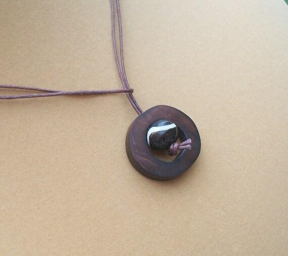 Unisex Bone Ring Lariat Necklace