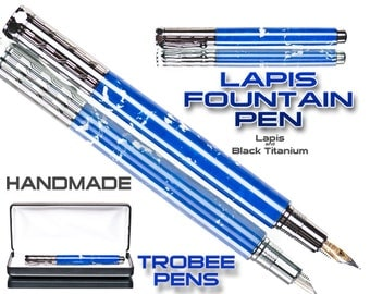 Gift ideas - fountain pen  Blue Lapis writing present with case