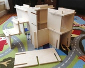 Organic Natural Wood Architect Play Set // Architect Modular Walls Build Your Own World with this Montessori Inspired Toy Set