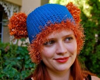 RaggleWear Classic solid color Pom-Pom Hat