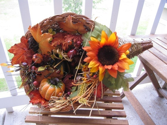 Items similar to thanksgiving cornucopia centerpiece