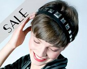 studded headband black suede 33% DISCOUNT