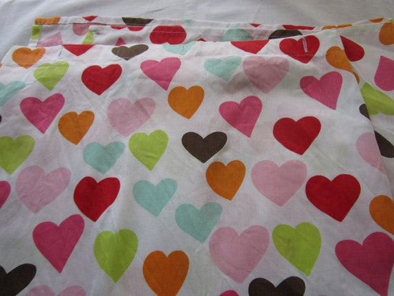 Heart shower curtain with matching hand towel