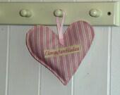 Llongyfarchiadau Congratulation Heart Shaped Lavender Bag