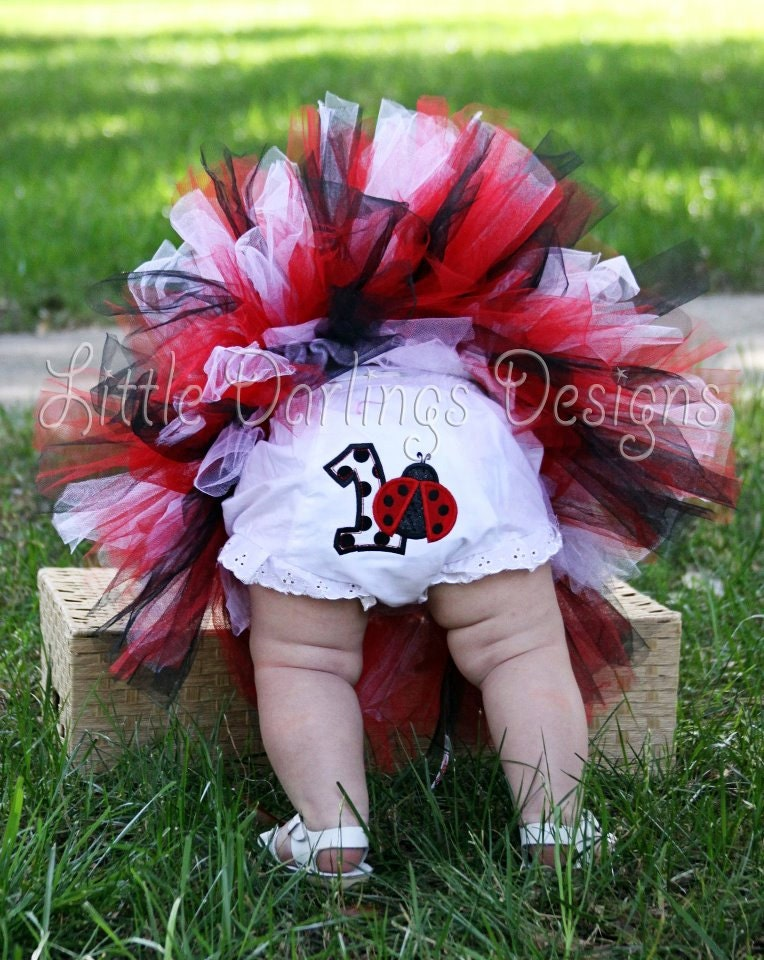Ladybug Themed Girl S First Birthday Bloomers
