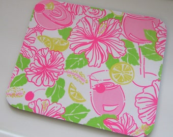 Mouse Pad  made with Lilly  Signature Fabric Havana Coctel