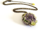 Green&Purple Azura Chain Necklace - elloriasboutique
