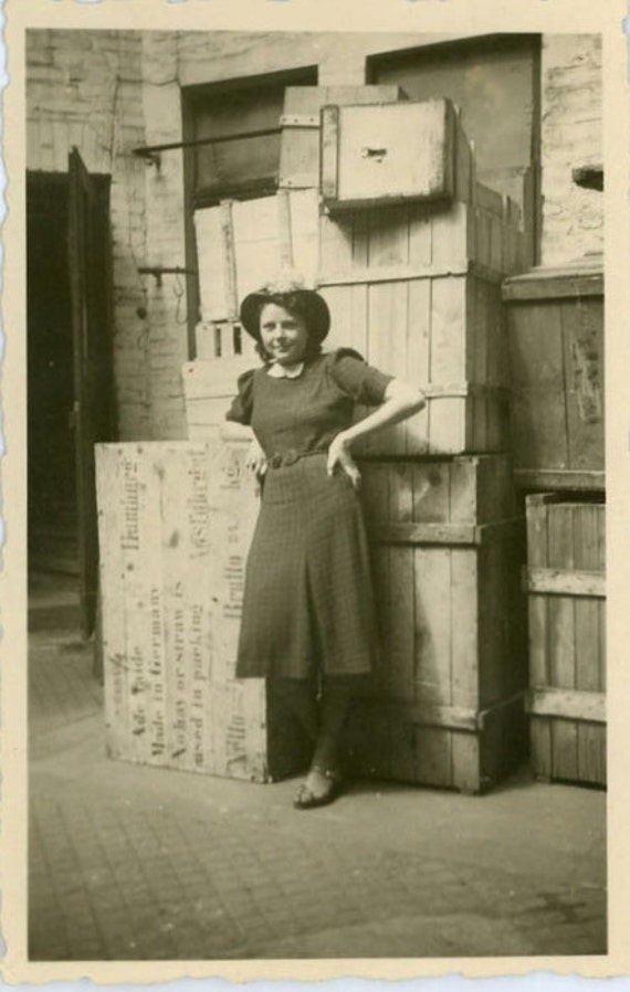 """Vintage Photo """"Working at the Docks"""", Photography, Paper Ephemera, Snapshot, Old Photo, Collectibles - 0036"""