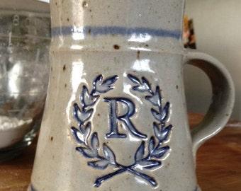 24 oz Rozzi Personalized Monogrammed Stoneware Tankard