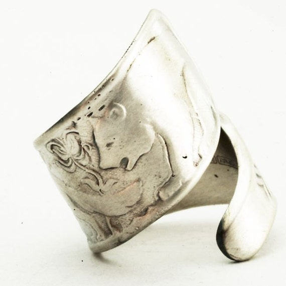 Spoon Ring Bre'r Bear, Fox and Rabbit Sterling Silver, Handmade in Your Size (2443)