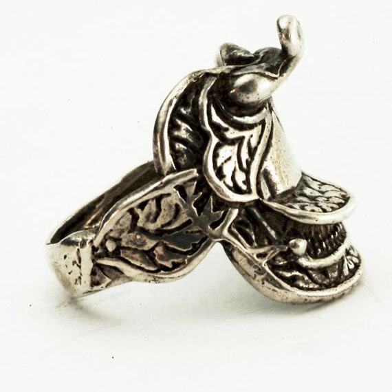saddle ring vintage western sterling silver or by