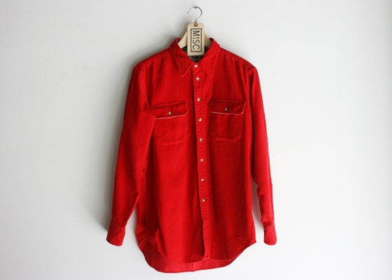 Vintage Red Woolrich Corduroy Flannel Shirt