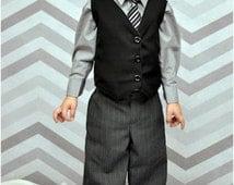 Little Gentleman Pants and Vest: boys pants pattern, boys vest pattern, boys suit pattern