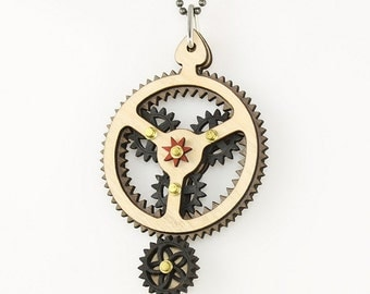 Rocker -Kinetic Plantarey Gear Pendant #6003D