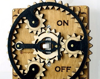 Black and Tan Planetary Gear Light Switch Plate #8002D