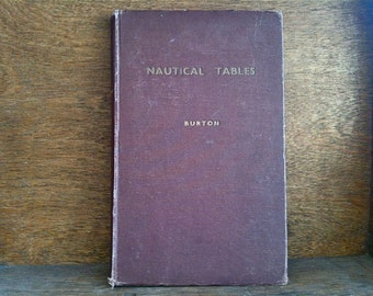 Vintage English Nautical Tables Sea Navigation Sailors Sailing Book Tide Tables circa 1940's  / English Shop