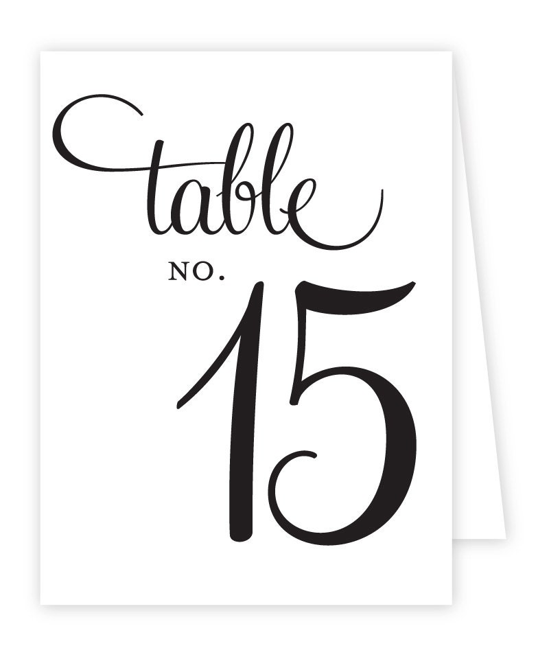 free printable table number tent cards. Black Bedroom Furniture Sets. Home Design Ideas